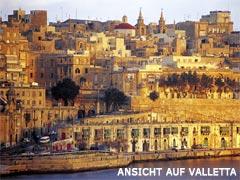 Ansicht auf Valletta