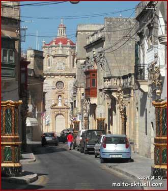 Festa Vorbereitungen in Balzan - Malta