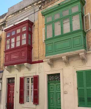 maltesische Balkone Birkirkara