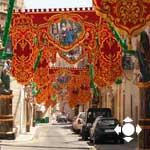 So sind maltesische Orte geschmückt