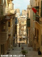 Strasse in Valletta