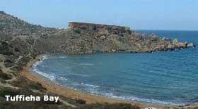 Sandstrand auf Malta - Tuffieha Bay